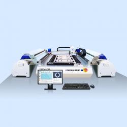 贴片机 小型双面供料LED贴片机 ZB3245TSS 四相机