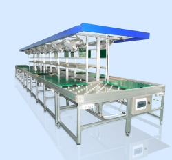 Unpowered tooling line (aluminum frame)